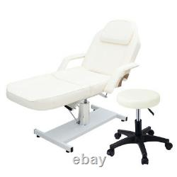 2 Piece Hydraulic Massage Table Bed And 1 Stool Beauty Facial Salon Tattoo Couch