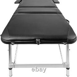 2 Sections Portable Massage Table SPA Bed For Beauty Salon Therapy Treatment