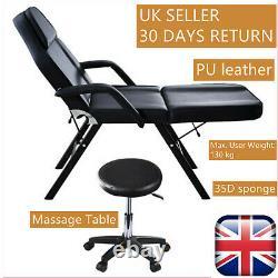 6 Patterns Beauty Salon Massage Table Bed Stool Set Recliner Tattoo Therapy UK
