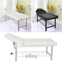 Adjustable Couch Bed Beauty Salon Table Facial Massage Bench Stool Storage Set