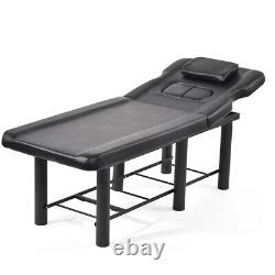 Adjustable Couch Bed Beauty Salon Table Facial Massage Bench Stool Storage Shelf