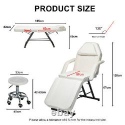 Adjustable Massage Couch Bed Chair &Stool Fit Beauty Salon Table Tattoo Therapy