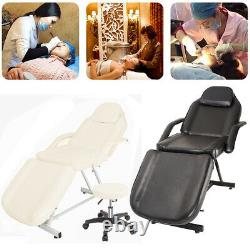 Adjustable Massage Table Bed Beauty Salon Chair Therapy Tattoo Couch with Stool
