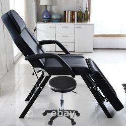 Adjustable Portable Salon Beauty Bed Massage Table Chair Set Tattoo Spa Therapy