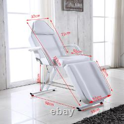 Adjustable Reclining Massage Couch Bed Chair & Stool Beauty Salon Table Therapy