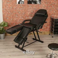 BLACK MANUAL PEDICURE TREATMENT COUCH SALON BEAUTY MASSAGE CHAIR TABLE BED Wido