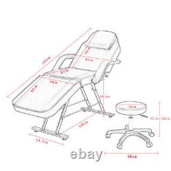 Beauty Bed Massage Table Bed Set Reclining Salon Tattoo Spa Bed Chair Stool Set