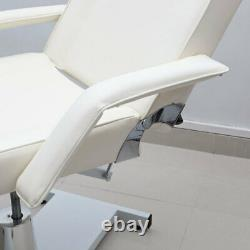 Beauty Massage Spa Bed Hydraulic Therapy Tattoo Couch Recliner Salon Chair Ivory