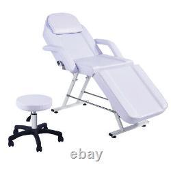 Beauty Massage Table Stool Set Reclining Salon Tattoo Spa Shampoo Tattoo Bed NEW