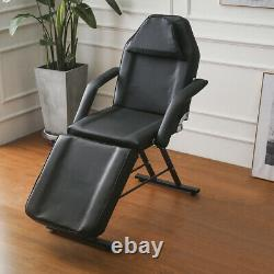 Beauty Salon Bed Chair Reclining Facial Therapy Massage Table Tattoo Couch Stool