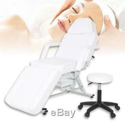 Beauty Salon Bed Chair Stool Included Massage Table Tattoo Therapy White
