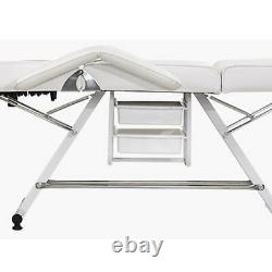 Beauty Salon Bed Chair Stool Included Massage Table Tattoo Therapy White UK