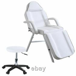 Beauty Salon Bed Chair With Stool Reclining Massage Table Tattoo Therapy UK