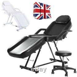 Beauty Salon Chair Massage Table Treatment Tattoo Therapy Couch Bed with Stool