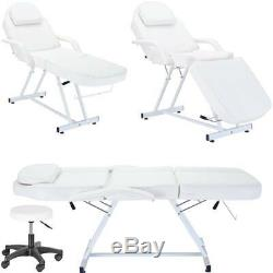 Beauty Salon Chair Massage Table With Stool Tattoo Therapy Treatment Couch Bed
