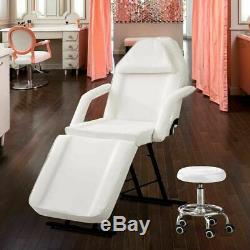Beauty Salon Massage Bed Chair White With Stool Tattoo Therapy Table recliner UK