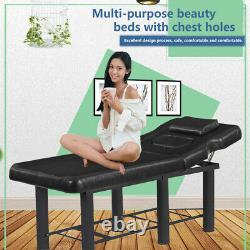 Beauty Salon Massage Bed Table Spa Couch Facial Therapy Tattoo with Chest Holes