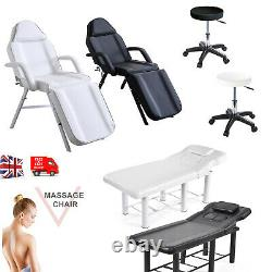 Beauty Salon Massage Table Bed Stool Set Recliner Tattoo Therapy Couch Chair
