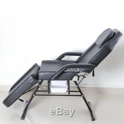 Beauty Salon Massage Table Bedadjustable Reclining2 Drawers Storagemetal Legs