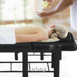 Beauty Salon Massage Table Spa Tattoo Facial Therapy Couch Adjustable Bed /Stool
