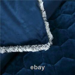 Bedding Set Embroidery Crystal Velvet Thick Bed Linens Beauty Salon Bedspread