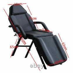 Black Beauty Salon Massage Bed Chair + Stool Tattoo Therapy Table Recliner UK