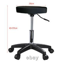 Black Beauty Salon Massage Recliner Table & Chair Stool Tattoo Therapy Bed Set