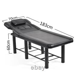 Black Beauty Salon Table Massage Bed Pedicure Tattoo Facial Therapy Couch UK