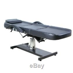 Black Hydraulic Massage Table Face Beauty Salon Bed SPA Tattoo Couch Chair UK