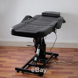 Electric Beauty Salon Bed Massage Table Hydraulic Lifting Tattoo Body Care Couch