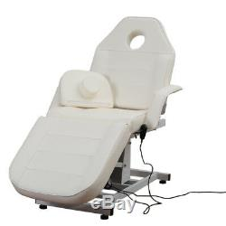 Electric Leather Massage Table Bed Beauty Salon Plinth Couch Chair With 3A UK Plug