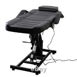 Electric Salon Hydraulic Beauty Chair Massage Table Couch Facial Bed with Stool