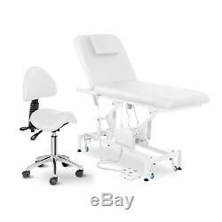 Electric Therapy Massage Table & Saddle Chair Set Beauty Bed Salon Couch Spa