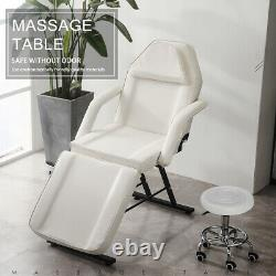Facial Beauty Salon Chair Bed Reclining Therapy Massage Table Tattoo Couch Stool