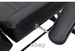 Facial Table Bed Chair Black Leather Cover A Shape Structure for Beauty Salon