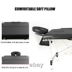 Foldable Massage Table Facial Spa Salon Bed Tattoo Beauty Therapy Couch Headrest