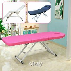 Foldable Massage Table Therapy Bed Beauty Facial Salon Couch Black/White/Pink