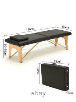 Folding Beauty Bed 180cm Width Professional Portable Spa Massage Table Salon Bag