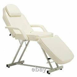 Folding Design Salon Spa Beauty Welded Steel Frame Bed with Recline Tilt Backrest