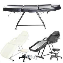 Folding Massage Table Beauty Salon Couch Bed Tattoo Threading Therapy Recliner