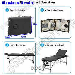 Folding Massage Table Bed SPA Beauty Salon Tattoo Therapy Facial Couch Treatment
