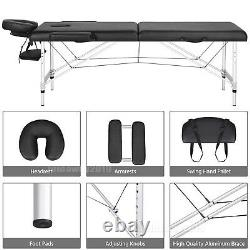 Folding Portable Massage Table Beauty Salon Tattoo Therapy Couch Bed Lightweight