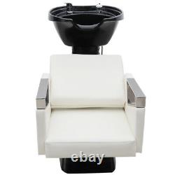 Hairdressing Hair Salon Barber Beauty Back Wash Basin Sink Chair Shampoo Bed