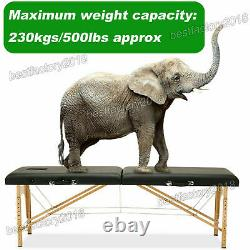 Heavy Duty Folding Massage Table Portable Couch Bed Tattoo Beauty Salon Therapy