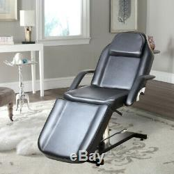 Hydraulic Recline Beauty Salon Chair Massage Facial SPA Bed Therapy Couch Table