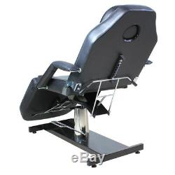 Hydraulic Swivel Massage Table Bed Beauty Salon Chair Therapy Tattoo Couch Black