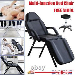 Leather Beauty Salon Bed Massage Table Chair & Stool Tattoo Spa Treatment Couch