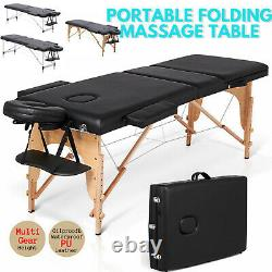 Lightweight Folding Massage Table Portable Couch Bed Tattoo Beauty Salon Therapy