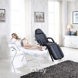 Luxury Massage Chair + Stool Beauty Salon Tattoo Therapy Table Adjustable Bed