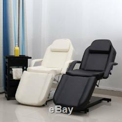 Luxury Padded Leather Massage Table Bed Beauty Salon Couch Hydraulic White/Black